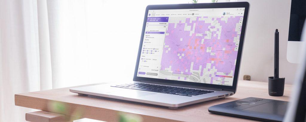 Market Locator on MacBook Pro